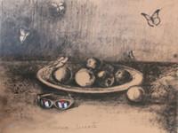 "Copperi (Luis Alberto Perez Copperi) #3315  (SL) 'Buena suerte,"" N.D. printers ink on craft paper. 19.25 x 29.75 inches."