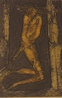 "Choco (Eduardo Roca Salazar) #3448. ""Eva,"" 2003. Collagraph print, artist proof. 15 x 11 inches."
