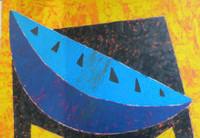 "Joel Jover #3514. ""Fruta - III,""1998. Acrylic on paper. 20 x 27.5 inches."