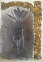 Fermin Fleites #1514. Untitled, N.D. Mixed media on paper. 29 x 20.5 inches.