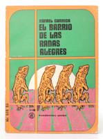 """Darío Mora (Cover) Rafael Garriga (Author) """"El barrio de las ranas alegres,"""" 1969"""
