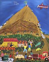 "Llopiz (Angel Llopiz Martinez) #4505. ""El Maiz,"" 2008. Oil on canvas, 23 x 19 inches."