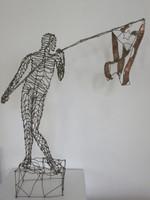 Fidel Reina #5643. Untitled, N.D. Copper sculpture. 26 x 24 x 5.25