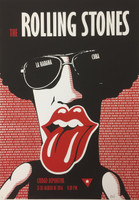 Ares {Aristides Hernandez} #6751. Rolling Stones, 2017. Silkscreen. 27 x 19.5 inches.