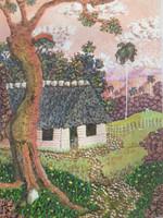 Caracusey (Armando Portieles Caracusey) #5028. Untitled, 2012. Oil on canvas. 9.5 x 7.5 inhces.