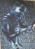 "Yordanis Garcia Delgado #5910. ""Barreras de comunicacion,"" 2013. Oil on canvas. 55 x 39 inches.  SOLD!"