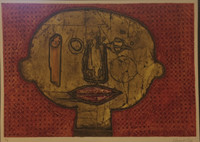 Choco (Eduardo Roca Salazar) #6773. Untitled 2016. Collagraph print, edition 1/5.  20 x 28 inches