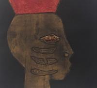 "Choco (Eduardo Roca Salazar) #6775. ""A Chango,"" 2013. Collagraph print, artist proof. 28 x 28 inches."