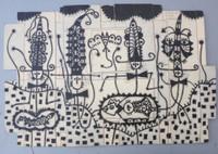 "Mederox (José Mederos Sigler) #2893,  Untitled, 1998. Ink on cardboard. 12.5"" x 18.5."""