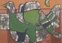 """Mederox (José Mederos Sigler)  #1982. """"Elefante y pato,"""" 1999. Oil on canvas. 20"""" x 29."""""""