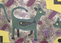 "Mederox (José Mederos Sigler)  #3807. Untitled, 2005. Acrylicl on canvas.  20"" x 29"""