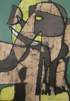 "Mederox (José Mederos Sigler)  Untitled, 2008. Tempera on paper. 16"" x 11.5.""  #4919"