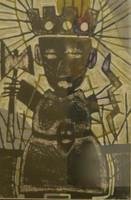 "Mederox (José Mederos Sigler)  Untitled, 2008. Mixed media, oil on paper. 21.75"" x 14.75.""  #4981"
