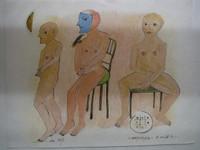 "Montebravo (José Garcia Montebravo)  #5133BX. ""la 187."" 2007. color pencil on paper. 9 x 12 inches"