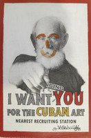 Villalvilla (Camilo Salvador Díaz de Villalvilla Soto) #4490BX. I want you for the Cuban art, N.D. Mixed media on canvas. 6 x 4 inches.