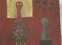 Alazo - Alejandro Lazo #4626BX. Untitled, 2012. Acrylic on canvas. 21.75 x 30.25 inches.