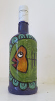 """Fuster (José Rodríguez Fuster) #8086BX. Untitled, 2015. Acrylic on rum bottle, 11"""" x 43 inches."""