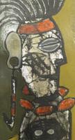 "Mederox (José Mederos Sigler) #4299. Untitled, 2009. Tempera on paper. 11"" x 6."""