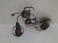 "Fidel Reina #8065. Untitled, ND. Copper metal sculpture, 5.5"" x 7 inches."
