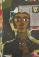 "Mederox (José Mederos Sigler) #746. Untitled, ND. Mixed media on paper. 20.5"" x 14.5."""