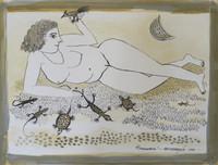 "Montebravo (José Garcia Montebravo) #1862 (SL) ""Primavera,"" 1999. Ink on paper. 13.75 x 18 inches."