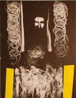 """Càceres (Rafael Angel Càceres Valladares) #2265. """"Pascual,"""" 1999. Monotype, 1/1.   18 x 13.75 Inches"""