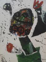 Nestor Vega #2333. Untitled, 1999. Mixed media collage. 18 x 13.5 inches.