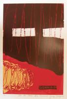 """Gorria (Jorge Perugorría Rodríguez) #4133. """"De la serie: Los Caminos,"""" N.D. Serigraph print. 27.5 x 19.75 inches."""