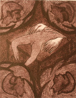 "Càceres (Rafael Angel Càceres Valladares) #3543. Untitled, 1995. Etching. 20"" x 16"""