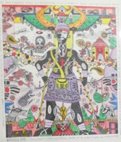 "Vilva (Elio Vilva-Trujillo) #2643. 'babalu Aye,"" 2000. Mixed media on paper. 14.5 x 12.5 inches."