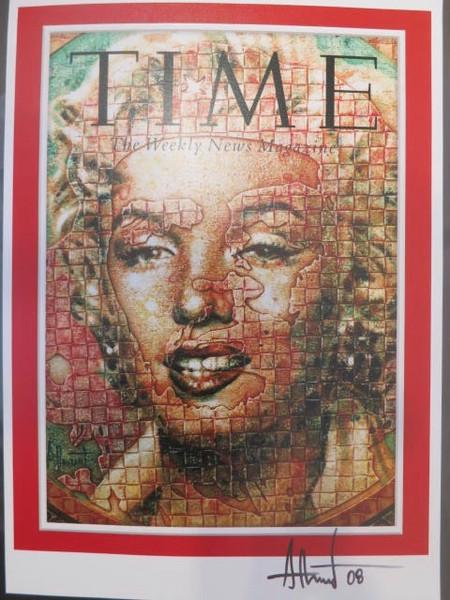 "Time {Marilyn}. Adrian Rumbaut, 2008. Digital Photograph. 11"" x 8""."