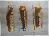 """Montebravo (José Garcia Montebravo) #5129. """" La intensidad del color,"""" 2006. Watercolor and ink on paper. 9 x 12 inches."""