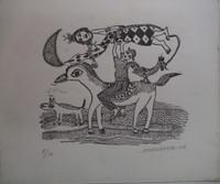 Montebravo (José Garcia Montebravo) #5997. Untitled, 2004. Print edition 10 of 25.  7.25 x 8 inches.