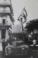 "Mayito (Mario García Joya) #151. NFS>  ""We are Cubans!"" Havana 1959.  13 x 8.75 inches."