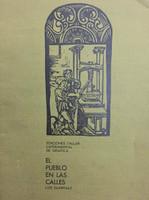 """Frémez (José Gómez Fresquet)  (Design, cover and print) Luis Suardiaz (author) """"El pueblo en las calles"""""""
