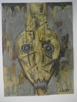 """Alazo - Alejandro Lazo  #5937. """"Venenoso,"""" 2009. Acrylic on paper. 12.5 x 9.5 inches."""
