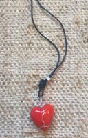 Osvaldo Castilla #418E. Heart Charm Necklace