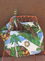 "Canvas beach bag #426B. Dimensions 14' x 25"" x slim gusset, adjustable self tie strap."