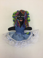 "Muñeca Celia by artist at the Lifeline fund down syndrome project in Las Terrazas community located in Pinar del Rio province, Cuba. 7"" tall."