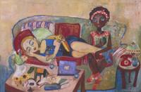 "Sandra Dooley #6853. ""Por la tarde,"" 2018. Oil on canvas. 60x90cm / 23.5"" x 35.5"""