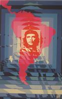 """Elena Serrano (OSPAAAL) """"Dia del Guerrillero Heroico (Continental Che)"""", 1968. Silk screen, 21.5"""" x 13.5""""."""