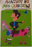 """Edwardo Bachs """"Aventuras de Juan Quinquin,"""" 1967. Silk screen, 30"""" X 20."""""""