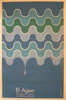"""Dimas, """"El Agua,"""" 1972. Silk screen, 30"""" x 20"""""""