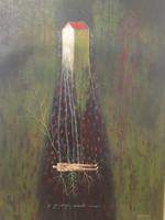 """Jose Manuel Lazcano  #6113 (SL) """" Echando Raices,"""" 2014. Acrylic on canvas. 31"""" x 23.5."""""""