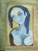 "Sandra Dooley #5204. ""En la ventana I,"" 2010.  Oil on canvas. 18"" x 14."""
