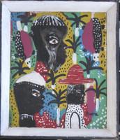 "Jorge Rivera # 2315. Untitled, c2000. Oil on canvas. 12.25"" x 10.5."""