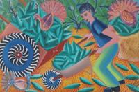 Yanet Porra Garcia #8153. Untitled, 2015. Oil on canvas, 9 x 14 Inches.