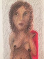 "Roberto Brauilo Gonzalez #5482. Untitled, 2007. Colored pencil on paper.  31.5"" x 19.25."""