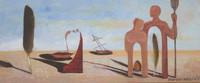 "Mauricio Reyes #8094BX. ""Referencias,"" 2009. Oil on wood. 5.5"" x 12."""
