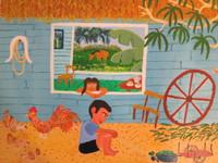 "Odais Palacio Mesa #5332. ""La yunta,"" 2010. Oil on canvas. 10.5"" x 12."""